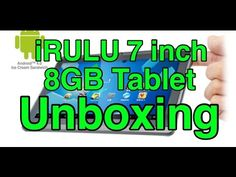 iRULU 7 inch 8GB Android Tablet Unboxing - http://techlivetoday.com/android-tablet-reviews/irulu-7-inch-8gb-android-tablet-unboxing/