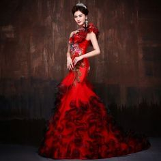 Buy Coeur Wedding Embroidered One Shoulder Wedding Ball Gown at YesStyle.com! Quality products at remarkable prices. FREE WORLDWIDE SHIPPING on orders over US$35.