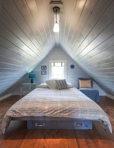 Platzsparende Attische Schlafzimmer Designs Hinzufügen Gemütliche  Europäische Mansarda Zu Innenräumen