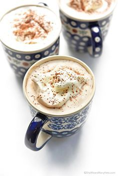 #HighHeelers - Coconut Milk Hot Chocolate Recipe -This looks completely delicious and I love the mugs. #LifeStyle