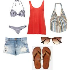 """Beach Party Outfit"" by april2787 on Polyvore"