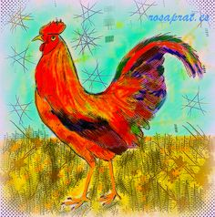 Gallina tuneada.  Tunned chiken. Rooster, Animals, Hens, Drawings, Animales, Animaux, Animal, Animais, Chicken