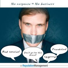 Today's #ReputationManagement tip:  Never ignore negative remarks. The secret of surviving a downfall is to respond to the criticisms, with a cool head!