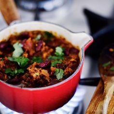 Chili sin carne   Kasvis, Padat ja laatikot   Soppa365 Veggie Recipes, Veggie Food, Chili, Salsa, Veggies, Soup, Beef, Vegan, Ethnic Recipes