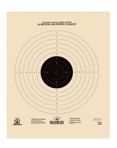 RedHead Official NRA Air Pistol Air Rifle Targets