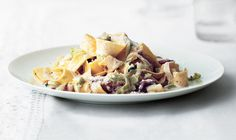 CreamyPappardelle With Leeks and Bacon This twist on pasta carbonara is sweet from leeks and rich thanks to cream (in place of eggs).