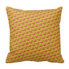 Pretty Throw Pillows | Gold Chevron Pattern Decorative throw pillow for bedding or sofa