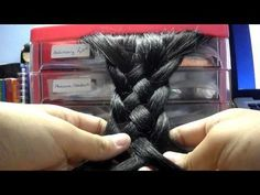 How to: 5 strand plait/braid. - YouTube