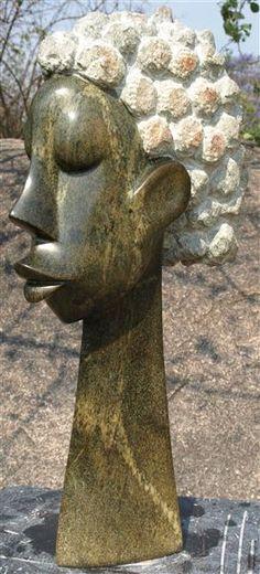 Shona stone sculpture by Zimbabwean artist Norbert Shamuyarira:Busybody