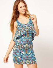 Mara Hoffman Inca Print Layered Jersey Beach Dress  www.asos.com