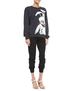 Angry Bunny Sweatshirt & Jersey Zip-Pocket Ankle Pants by McQ Alexander McQueen at Bergdorf Goodman.