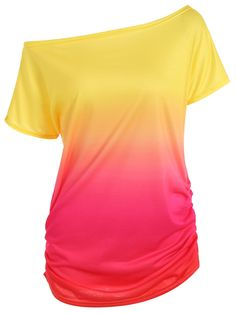 $10.70 Manches courtes Slimming Ombre T-shirt