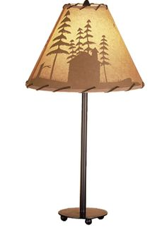 23.5 Inch H Cabin In The Woods Accent Lamp