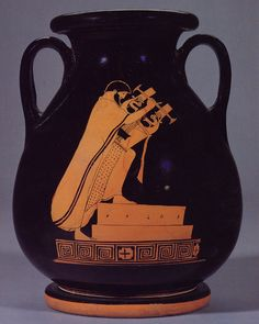 Although Greeks were familiar with many kinds of instruments,3 were favored:the kithara,a plucked string instrument;the lyre,a string instrument;and the aulos,a double-reed instrument.They trained to play an instrument and to sing or perform choral dances. Instrumental music or the singing of a hymn  accompanied everyday activities and worship.Philosophers saw a relationship between music and mathematics,envisioning it as a paradigm of harmonious order reflecting the cosmos and the human…
