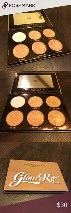 Ultimate Glow Kit Anastasia Beverly Hills This palette is in excellent condition, it's barely used (see pictures for use)! 100% authentic, originally purchased from ABH website. Also, I have proof of purchase. It has been completely sanitized. I always ship on the same day as the purchase is made or, at the latest the day after! Please make me an offer, no trades! 😊😊 Anastasia Beverly Hills Makeup Luminizer