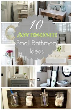 10 Awesome Small Bathroom Ideas (Nota Bene: the Mason Jar Organizer)
