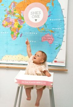 Griffin's 1st Birthday---Freebie Printables for Map Themed First Birthday Party #map #firstbirthday #printables