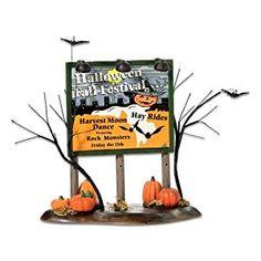 "Amazon.com: Dept 56 Halloween ""Halloween Festival Billboard"": Home & Kitchen"