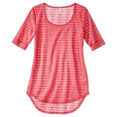 Xhilaration® Junior's Elbow Sleeve Knit Top - Assorted Colors