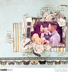Layout by Kylie Kingham. Scrapbook Albums, Scrapbooking Layouts, All Paper, Creating A Blog, Craft Projects, Card Making, Challenges, Paper Crafts, Cards