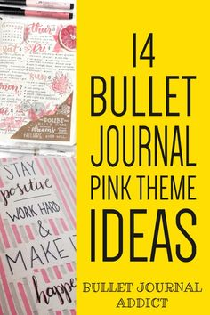 Pink Bullet Journal Spreads and Pages - Bullet Journal Inspiration and Ideas In Pink - Bullet Journal Pink Theme Ideas #bulletjournal #pink #pinkthemes #pinkbulletjournal #bujolove #bujocollection #bujospreads #bujoweekly #bujomonthly #bujofuturelog #bujopink Bullet Journal Quotes, Bullet Journal Tracker, Bullet Journal Themes, Bullet Journal Spread, Bullet Journal Layout, Bullet Journal Inspiration, Goal Journal, Journal Fonts, Junk Journal