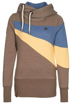 Amazon.com: Naketano Willi II Hoodie Hoody Sweater Damen Womens(Brown Melange,S): Clothing