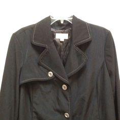 Ladies Merona Plus 2X Black Fully Lined Coat Jacket Trench #Merona #Trench