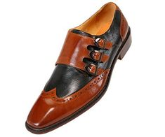 Asher Green Mens Genuine Two-Tone Leather Dress Shoes, Comfortable Triple Monk Strap Wingtip Oxfords Tan Dress Shoes With Jeans, Rubber Dress, Cowboy Shoes, Mens Winter Boots, High Ankle Boots, Monk Strap Shoes, Suede Leather Shoes, Loafers Men, Oxfords