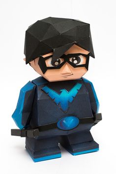 3D Paper Model Instruction - illustration made toys to teach you how to make paper at two toy paper model Nightwing (Nightwing Papercraft Model).