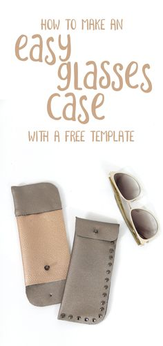 #DIY Make your own DIY glasses case from faux leather fabric! This no sew tutorial to make a trendy accessory for sunglasses. Learn how @VSPVisionCarehelps moms like me treat eye care like health care with more convenient and regular exams, and savings on eyewear for the whole family! #ChooseVSP