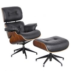 Eames chair and ottoman.