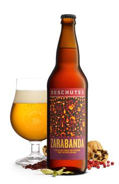 Zarabanda by Deschutes Brewery. 6.3 ABV 18 IBU. Collaboration with chef Jose Andres. Saison brewed with lemon verbena, pink peppercorns, sumac and dried lime. I get a bit of the lime on the palate and lemon and pink peppercorn on the deep finish. Tastes of a farmhouse ale. Good if you like the style.