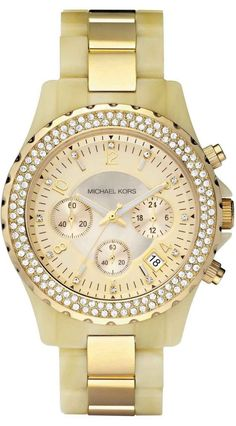 Michael Kors Watch , Michael Kors Women's MK5417 Madison Chronograph Horn and Gold Watch
