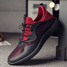 RAYNALIYA High Quality Light Sneakers - Red limited edition Men's top designer fashion brand street style affordable menswear running footwear sneakers loafers outdoor summer business class dress shoes for men Simple Shoes, White Casual Shoes, Your Shoes, Men's Shoes, Shoes Men, Comfortable Mens Dress Shoes, Top Running Shoes, Jogging Shoes, Palladium Boots