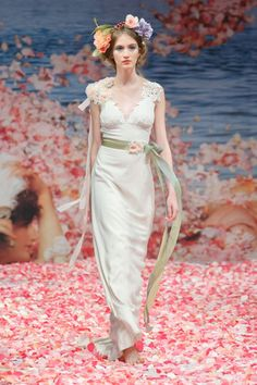 2013 wedding dress by Claire Pettibone An Earthly Paradise bridal collection Maiden - Photo: @Syed SYPhotography via @OneWed