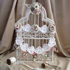 Wedding Bird Cage Card Holder Shabby Chic Bird by NotJustSigns, $49.99