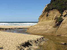 Red California Shoreline