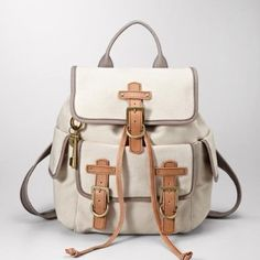 I really want a backpack purse and this Fossil one is so cute