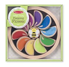 Buy the Melissa & Doug Flapping Flower at JustKidding baby shop online. This colorful wooden flower toy features clicking, clacking petals! Toddler Toys, Baby Toys, Kids Toys, Pixar, Toys For Tots, Baby Momma, Baby Baby, Wooden Flowers, Melissa & Doug