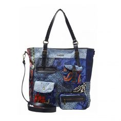 Shopper Desigual con tracolla linea Electra 67X50B2 - Scalia Group #desigual #borse #donna #handbags #color #winder #fallwinter #women
