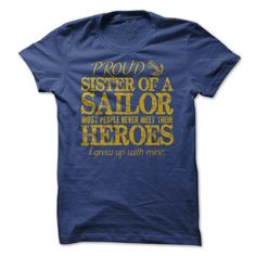 Military Hero Sister Navy T Shirts, Hoodies. Get it here ==► https://www.sunfrog.com/LifeStyle/Military-Hero-Sister-Navy.html?41382