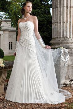 robe en satin drap blanche - Tati Fr Mariage