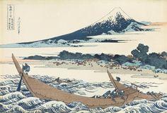 Katsushika Hokusai Colored Block Print mid19thC