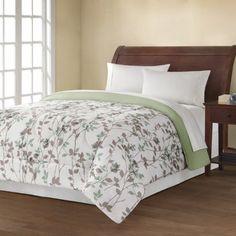 Buy Mainstays Reversible Comforter Collection, Leaf Vine at Walmart.com