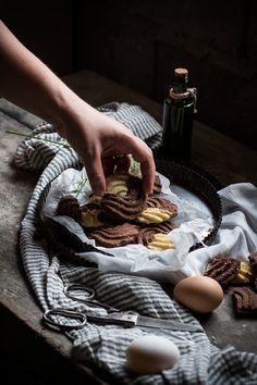 Beautiful dark, moody food photography and cookie food styling.