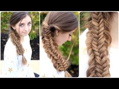 LOVE this fishtail braid. So easy.  Tutorial here.  #hairstyles #CuteGirlsHairstyles #CuteGirlHair #hairstyle #braid #braids #fishtail