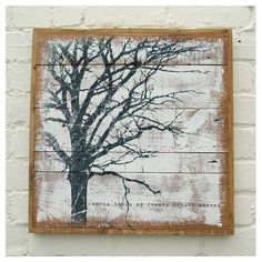 Tree Print Art On Reclaimed Wood If you want to learn woodworking techniques, try http://www.woodesigner.net