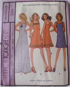 Vintage Women's Sewing Pattern  Pullover Dress or by Shelleyville, $7.00
