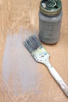 Gray Restoration Hardware Stain Recipe | Pretty Handy Girl good link