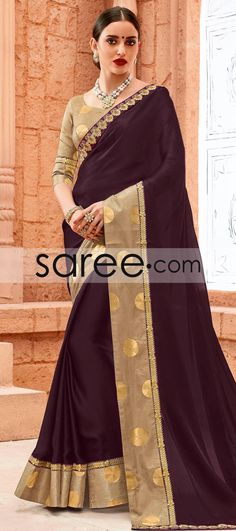 MAGENTA SATIN GEORGETTE SAREE WITH LACE WORK #Saree #GeorgetteSarees #IndianSaree #Sarees #SilkSarees #PartywearSarees #RegularwearSarees #officeWearSarees #WeddingSarees #BuyOnline #OnlieSarees #NetSarees #ChiffonSarees #DesignerSarees #SareeFashion